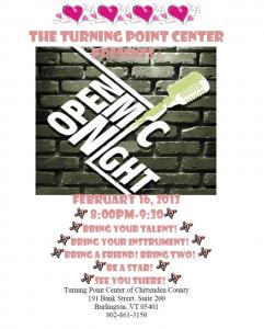 Open Mic Night February 16th