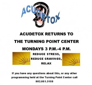Accudetox returns to the Turning Point Center