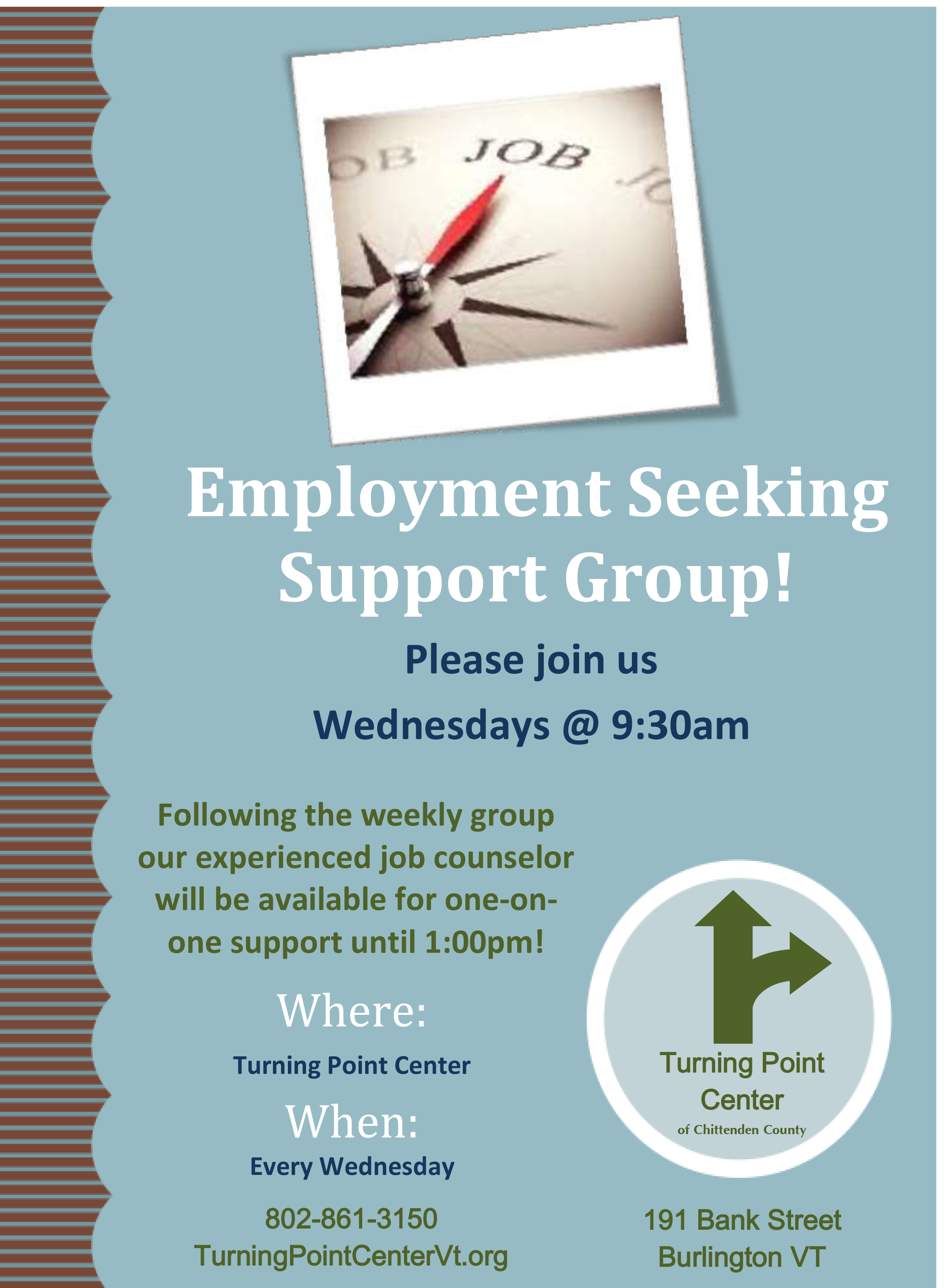 employment skills training available at the turning point center the