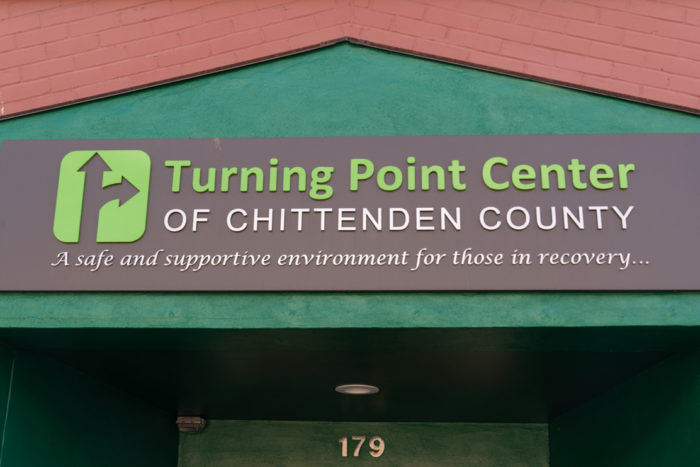 Entrance sign to the Turning Point Center