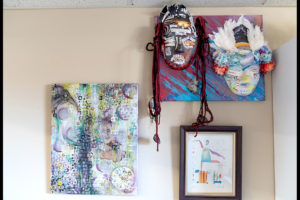 Art is created by guests at the Turning Point Center
