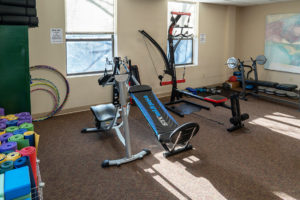 Workout equipment at the Turning Point Center