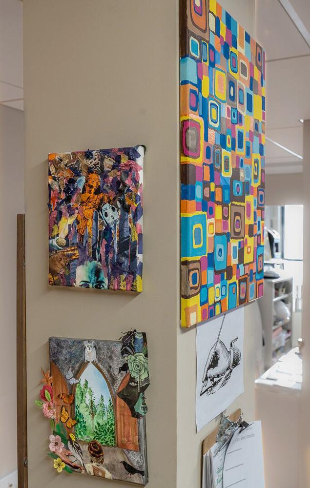 Art in art room at Turning Point Center