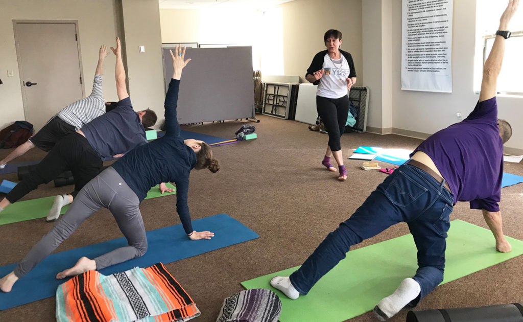 Yoga class at Turning Point Center