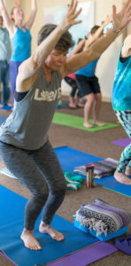 Yoga class at Turning Point Center of Chittenden County