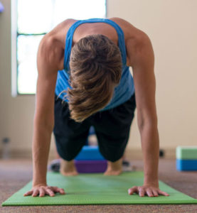 Yoga pose at Turning Point Center Chittenden County